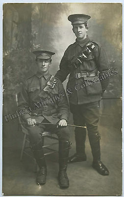 Ww1 Rp Npu Postcard Two Australian Light Horse Soldiers Aif With Bandoliers C85