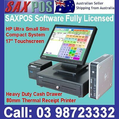 Touchscreen HP Mini-box POS Point of Sale System + Retail Hospitality Software