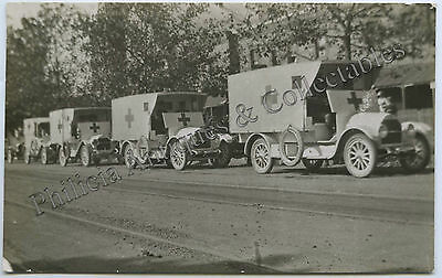 Ww1 Rp Npu Postcard Military Ambulances Ready For The Front Adelaide C91