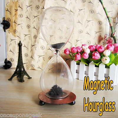 Reversible Sandtimer Magnetic Sand Hourglass Timer Filled With Iron Filings