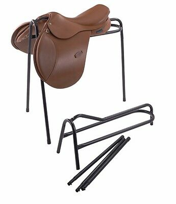 Shires Saddle Stand Rack Tripod Collapsible 5 Colours tack room yard Display