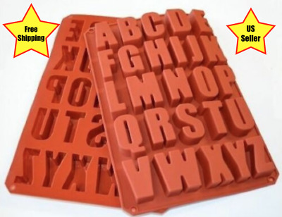 *NEW*Silicone Alphabet/Letter Mold~Chocolate,Ice,Candy,Crafts~Ships from US~
