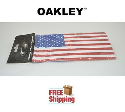 Oakley® Sunglasses Eyeglasses Microclear Cleaning Storage Bag Usa Flag New