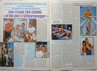 JEAN-CLAUDE VAN DAMME =   COUPURE DE PRESSE 2 pages 1992 //  FRENCH CLIPPING!!!