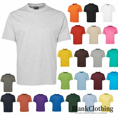 Mens Plain 100% Cotton Tee Shirt | Adults Unisex Blank TShirt | Plus Size S-5XL