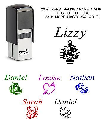 personalised name self inking rubber stamp, ideal for children fun images