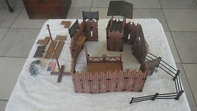 VINTAGE Playmobil Western Fort UNION Brought from Germany 1976