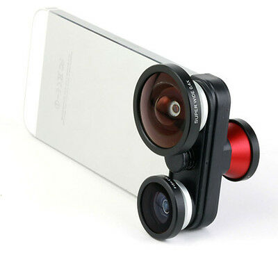 Combination 4in1 Super Wide Angle +Front & Back Fisheye+Macro Lens for i Phone 5