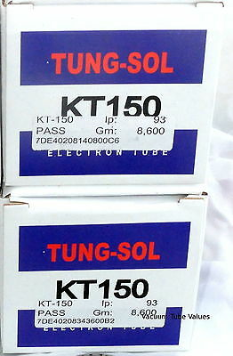 Tung-Sol Factory Platinum Matched PAIR TWO KT150 NEW  KT-150 Tubes 24hr Burn-In