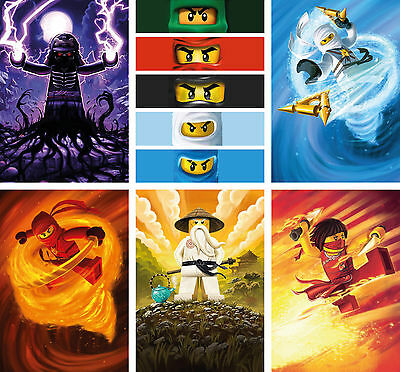 Lego Ninjago Poster Set of 6 for the price of 1 - A4 A3 A2 Sets Available