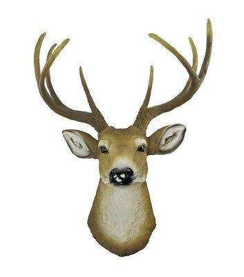 "Large 23"" Height Deer Head Hanging Eight Point Buck Wall Plaque Home Decorative"