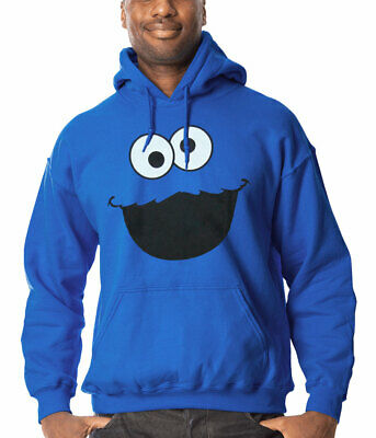 Cookie Monster Face Hoodie New