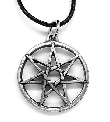 Heptagram Pagan Pendant Necklace (7 Seven Point Fairy Star)