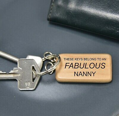 Personalised Name Keyring Fabulous Gift Mum Mam Auntie 60735 Birthday Christmas