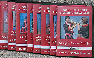 Modern Arnis Video's Complete Classic Series Vol. 1 - 8  By GM Remy A. Presas