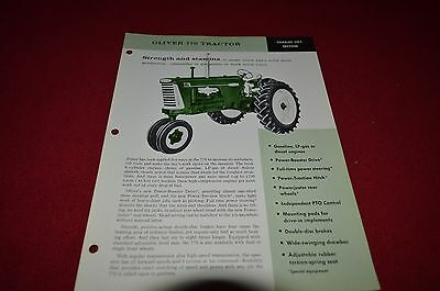Oliver 770 Tractor Fact Sheet Dealer's Brochure DCPA