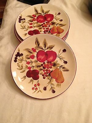 "Set of 4 Oneida "" Tuscan Harvest "" Salad Plates (2) 9 1/2"" Wide Discontinued"
