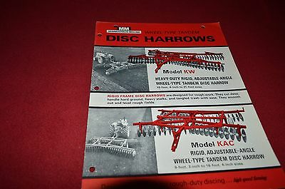 Minneapolis Moline Tractor KW Disk Harrow Dealer's Brochure DCPA