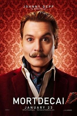 MORTDECAI MOVIE POSTER 2 Sided ORIGINAL Advance 27x40 JOHNNY DEPP