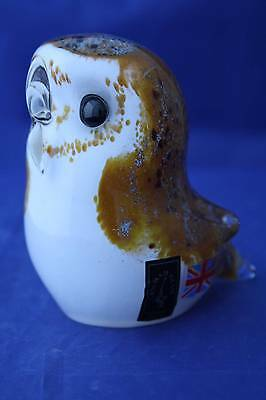 Langham Glass Hand-Made Crystal Small Barn Owl - New / Boxed