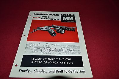 Minneapolis Moline Tractor KAB Disk Harrow Dealer's Brochure DCPA