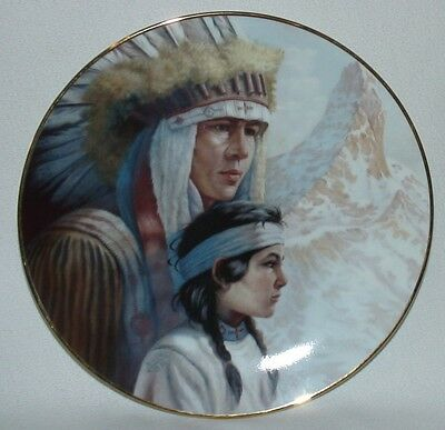 "AMERICA'S INDIAN HERITAGE Lt Ed PLATE ""ARAPAHO NATION"" PERILLO 87 VAGUE SHADOWS"