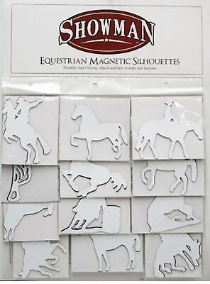 White Equestrian Magnetic Silhouettes made by Showman! HORSE TACK!
