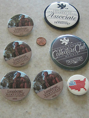 LOT 7 PIN COLLECTORS MEMBER CLUB LONGABERGER HOMESTEAD ASSOCIATE+TAKE PRIDE in