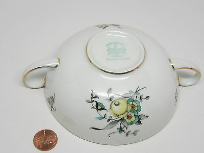Royal Bayreuth Bavaria BEAUTIFUL BLUE,YELLOW FLOWER Gold Trim China Cup 2 Handle