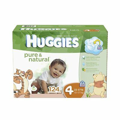 Huggies Pure and Natural Diapers  Size 4  124 Count