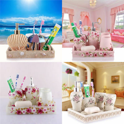 Rome Aristocracy Bathroom Accessories Set Bath Resin Cup Toothbrush Holder
