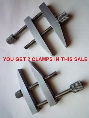 """Parallel Clamp 4"""" Toolmakers hardened faces all steel  2 off (a pair )"""