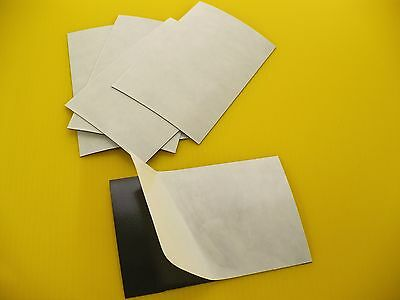 """(100) 35 Mil 8""""x10"""" Adhesive Magnet Sheets Made In Usa"""