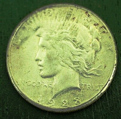 1923 S Peace Silver Dollar Minted In San Francisco  Item  1117