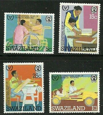 Album Treasures Swaziland Scott  395-398 Year of the Disabled Mint NH