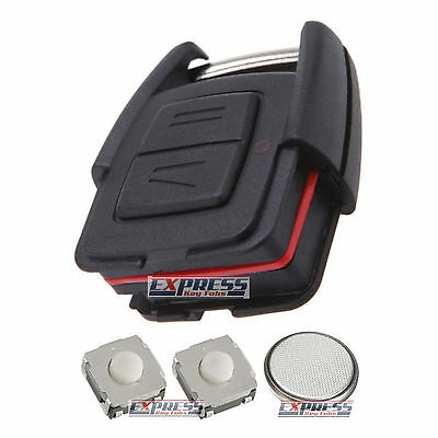 Vauxhall Opel Astra Omega Frontera 2 Button Remote Key Fob Case Full Repair Kit