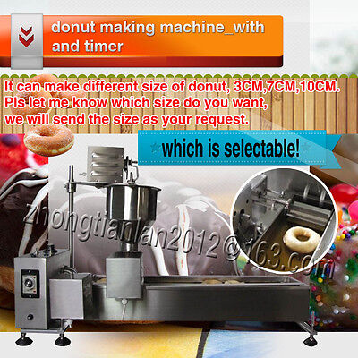 Commercial Automatic Donut Maker Making Machine,Wider Oil Tank, 304 Steel,1 mold