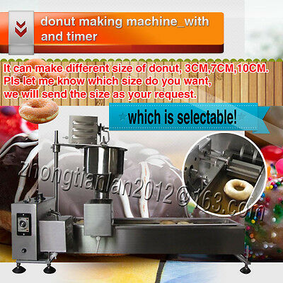 Commercial Automatic Donut Making Machine,Wider Oil Tank,stainless steel,1 mold