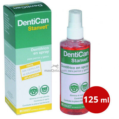 DENTICAN SPRAY 125 ML - STANVET - DENTÍFRICO PERROS Y GATOS (Limpieza dental)