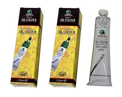 2PK Marie's Oil Colour Zinc Titanium White