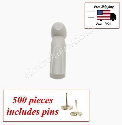 500 pcs EAS RF 8.2 MHz Checkpoint Compatible  Beautiful Slim Tags with pin