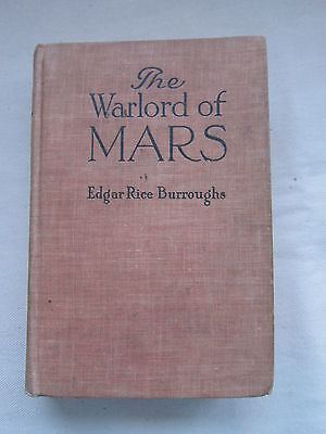 Old Antique Book The Warlord  of Mars Burroughs 1919 Early Edition