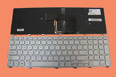 NEW US backlit keyboard for DELL Inspiron 17 7000 series 7737 laptop silver