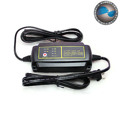 Advanced Smart Automatic Motorcycle Battery Charger for 12V Lead-Acid Battery