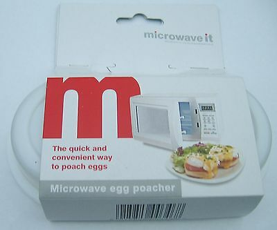 New In Pack  Microwave Egg Poacher Saves Time Eggs Made Easy No Mess L@@k