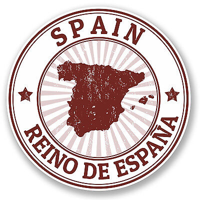 2 x Spain Espana Vinyl Sticker Decal Travel Luggage Tag iPad Flag Laptop #4731
