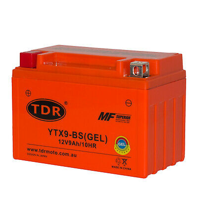 YTX9-BS GEL Scooter Battery Honda CH150 E-Ton 150 R4 SYM HD200/125 Hyosung 250