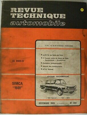 revue technique automobile RTA SIMCA 1501