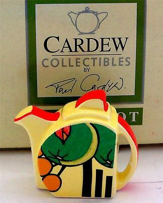 Cardew Miniature Teapot TINY CLARICE CLIFF Collectible Paul Cardew Teapot MIB