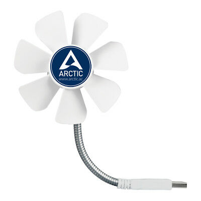 Arctic Breeze Mobile USB Desk PC Fan, Arctic, ABACO-BZG00-01000, USB Powered